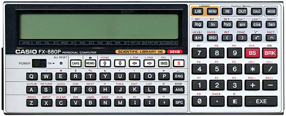 Casio fx-880p picture